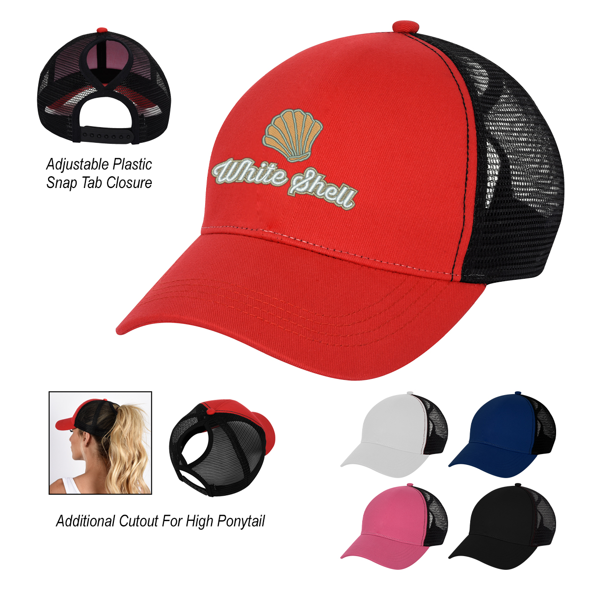 BED HEAD PONYTAIL CAP
