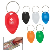 Tear Drop Shape Lottery Scratcher Key Chain