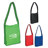 Non-Woven Messenger Tote With Velcroå¨ Closure