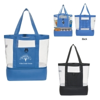 Clear Cabana Tote With Insulated Bottom
