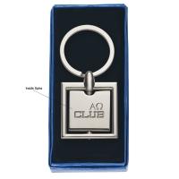 Square Metal Key Tag