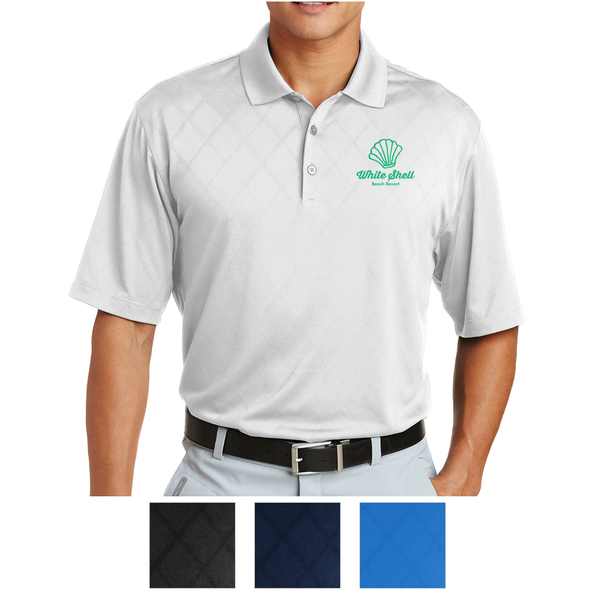 349899 Nike Dri Fit Cross Over Texture Polo Hit Promotional Products