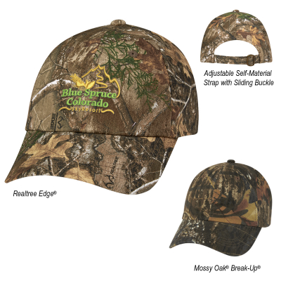 1064 Realtree® And Mossy Oak® Hunter s Hideaway Camouflage Cap - Hit ... e64a746ec107