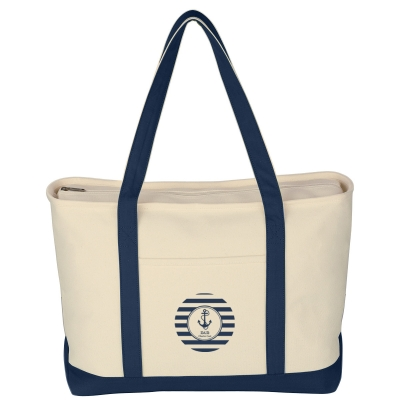 7bbc427b8 3235 Large Heavy Cotton Canvas Boat Tote Bag - Hit Promotional Products
