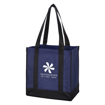 3331 Non-Woven Two-Tone Shopper Tote Bag - Hit Promotional Products 00d4ca7004