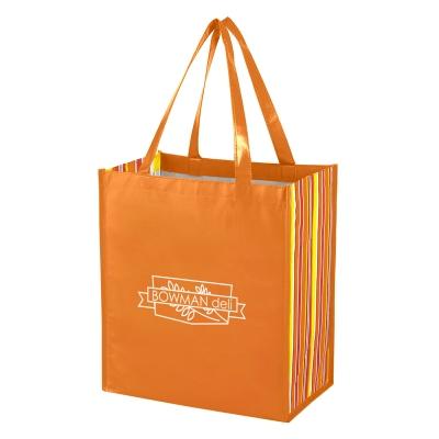 b53855aa180 3332 Shiny Laminated Non-Woven Tropic Shopper Tote Bag - Hit ...