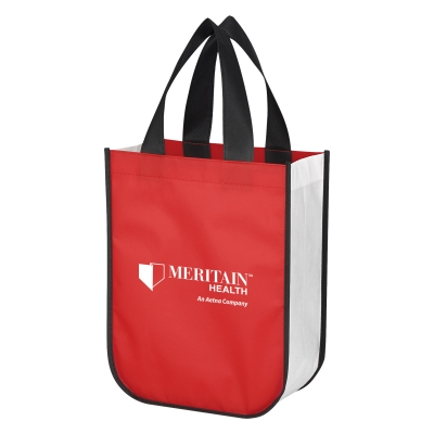 a1840865aea7 3363 Shiny Non-Woven Shopper Tote Bag - Hit Promotional Products
