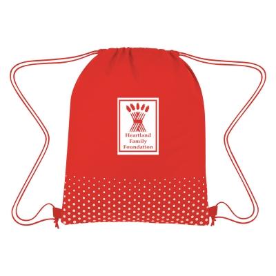 3376 Connect The Dots Non-Woven Drawstring Bag - Hit