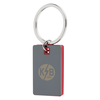 4796 Color Block Mirrored Key Tag - Hit Promotional Products