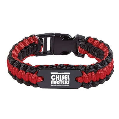 7905 Paracord Bracelet With Metal Plate Hit Promotional Products