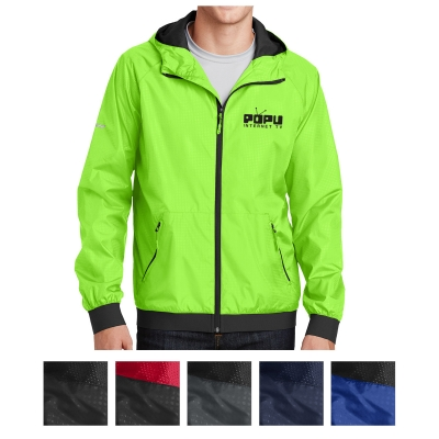 Sport-Tek Embossed Hooded Wind Jacket JST53