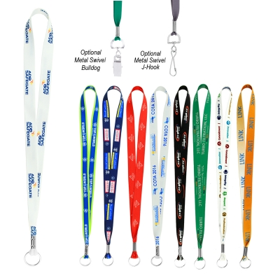 202a8d37f70c7 LANYARDS-DS75 Full Color Imprint Smooth Dye-Sublimation Lanyard ¾ ...