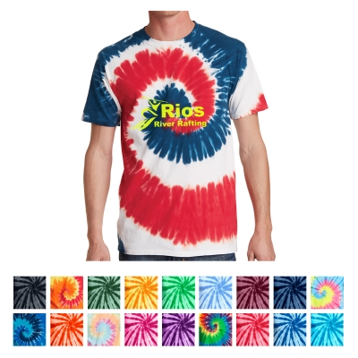 b5b5bfe4c55 PC147 Port   Company® Tie-Dye Tee - Hit Promotional Products