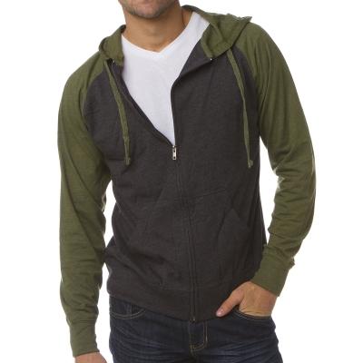 Lightweight Jersey Raglan Hoodie Full-Zip SS155RJZ Independent Trading Co