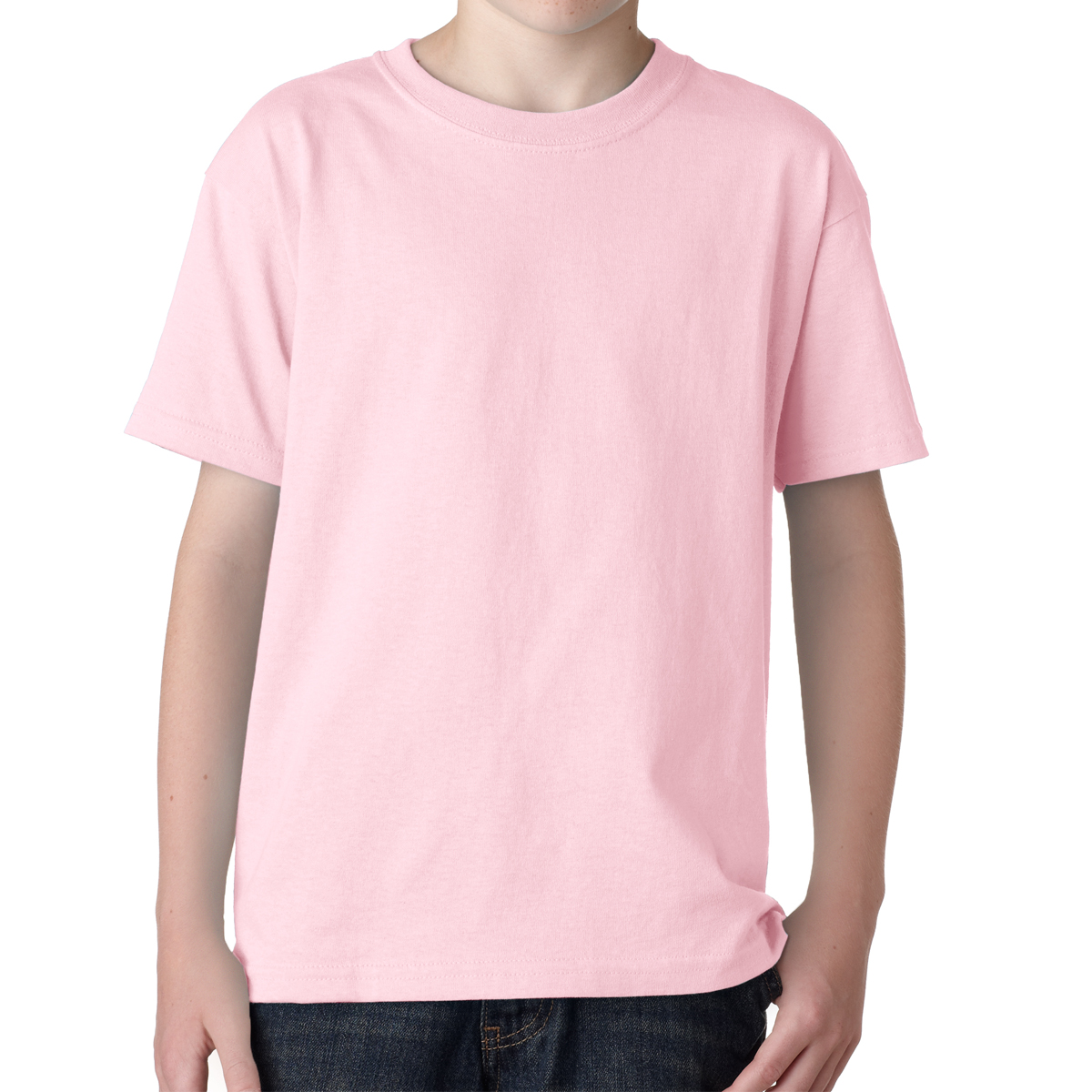 5000y gildan youth heavy cotton t shirt for Pink t shirt template