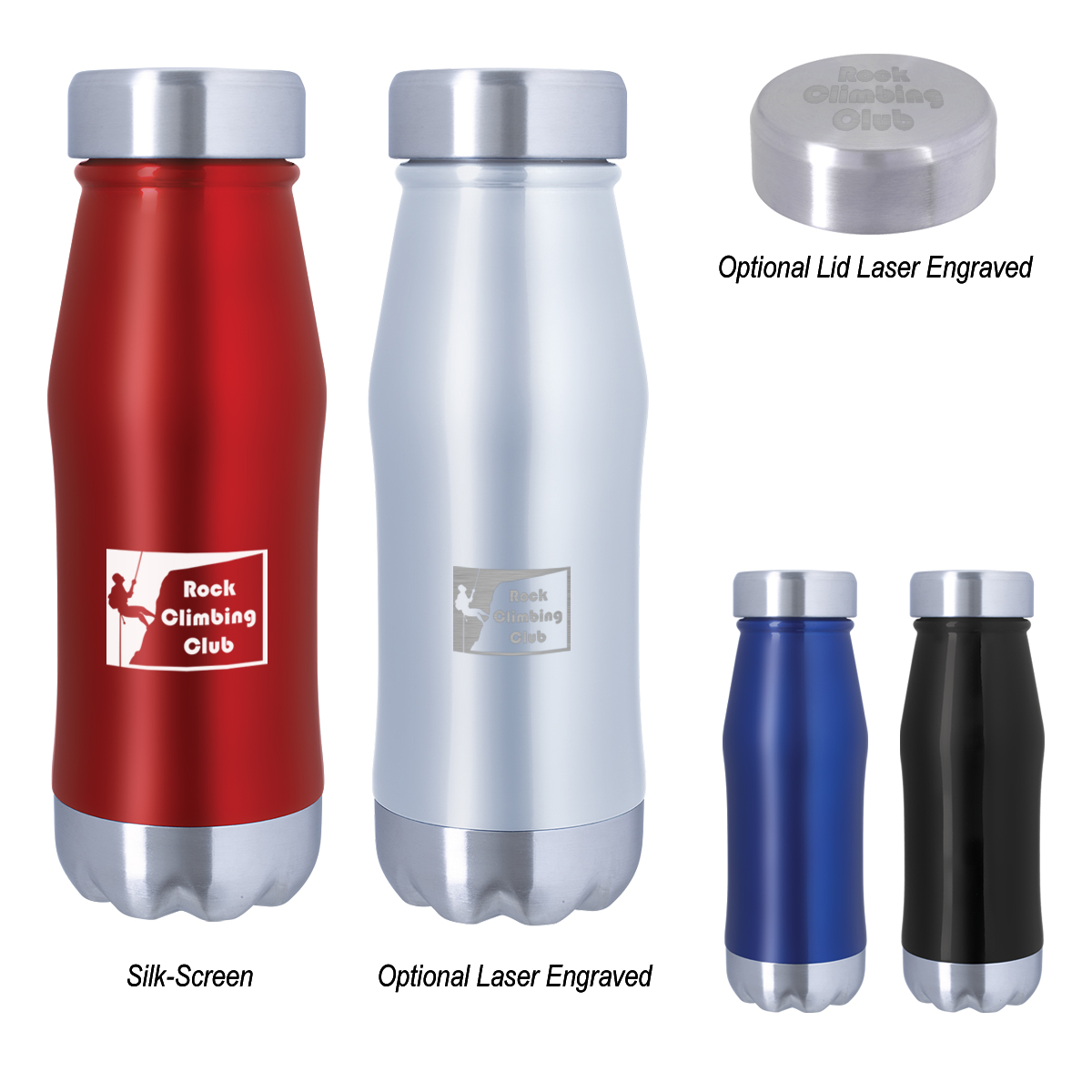 Hot up to 12 Hours Cold up to 24 Hours 16 oz Cassel Double-Wall Vacuum-Insulated Stainless Steel Bottle Spill-resistant Lid Wide Mouth Meets FDA Requirements BPA-free