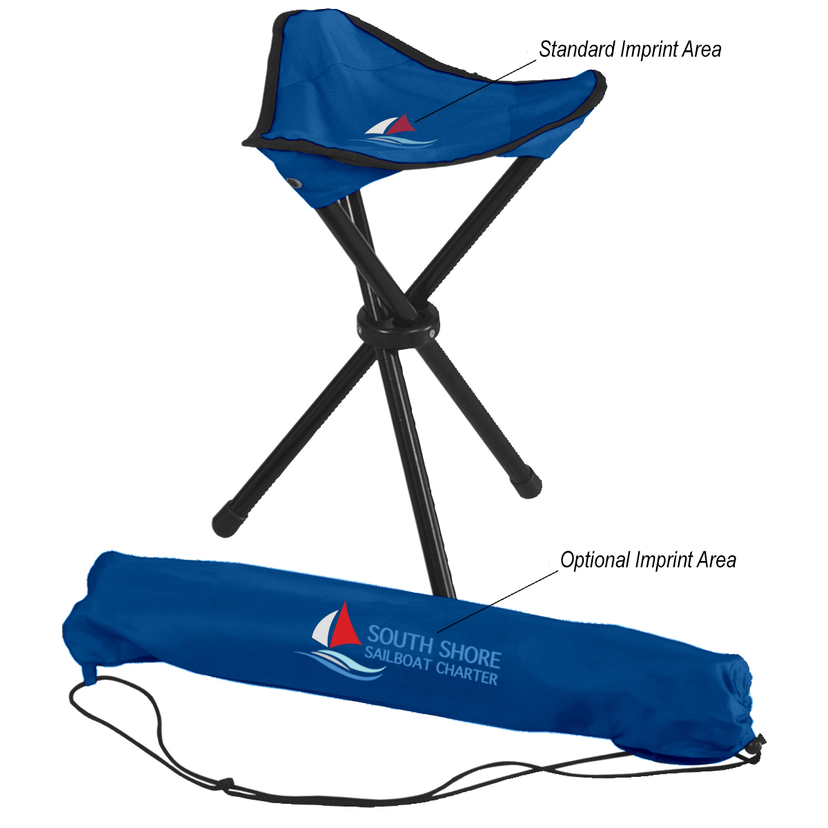 7043 Folding Tripod Stool With Carrying Bag Hit