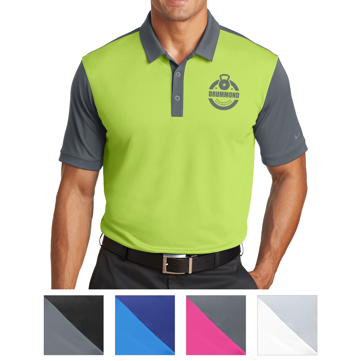 746101 Nike Dri Fit Colorblock Icon Modern Fit Polo Hit