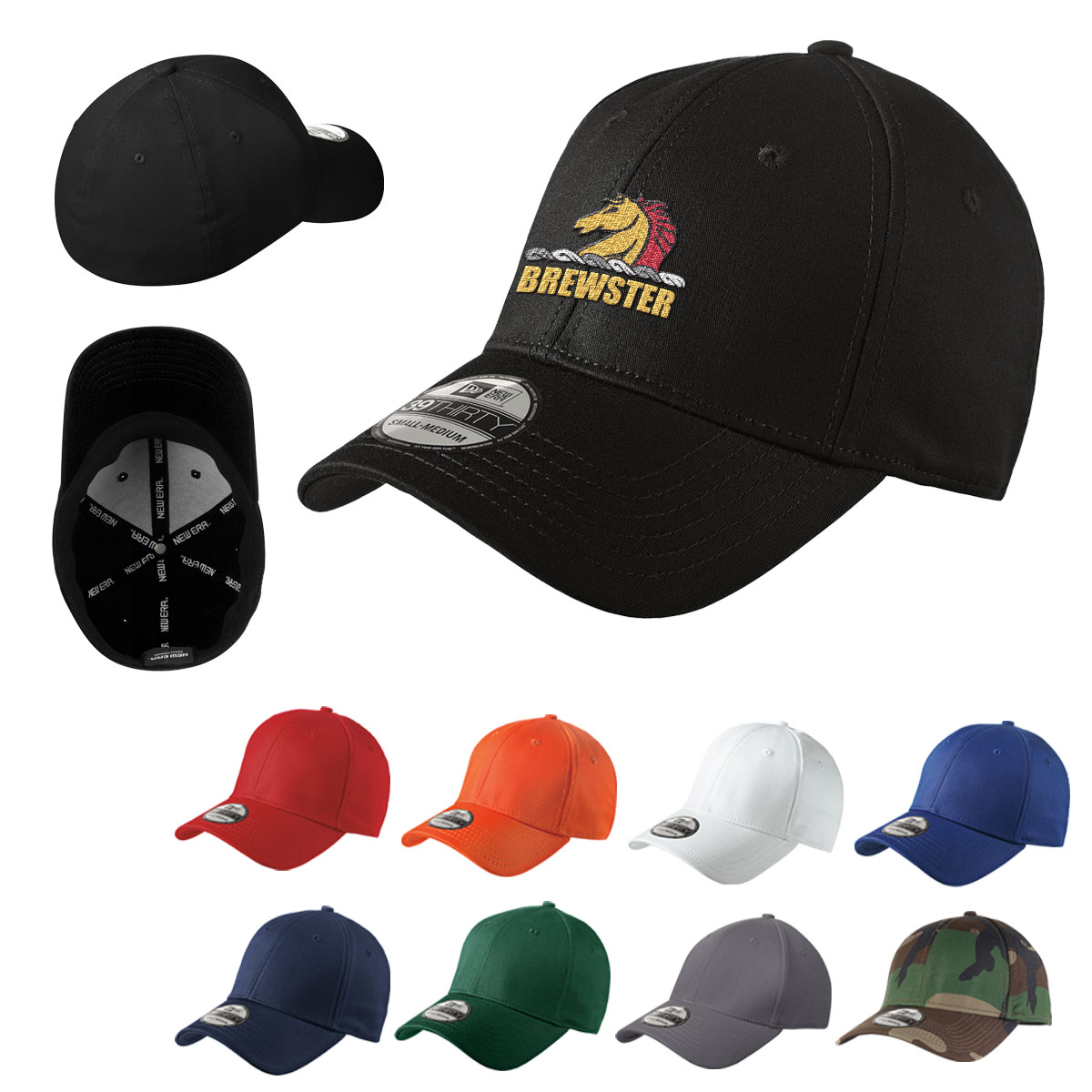 e36121815ea NE1000 New Era® Structured Stretch Cotton Cap - Hit Promotional Products