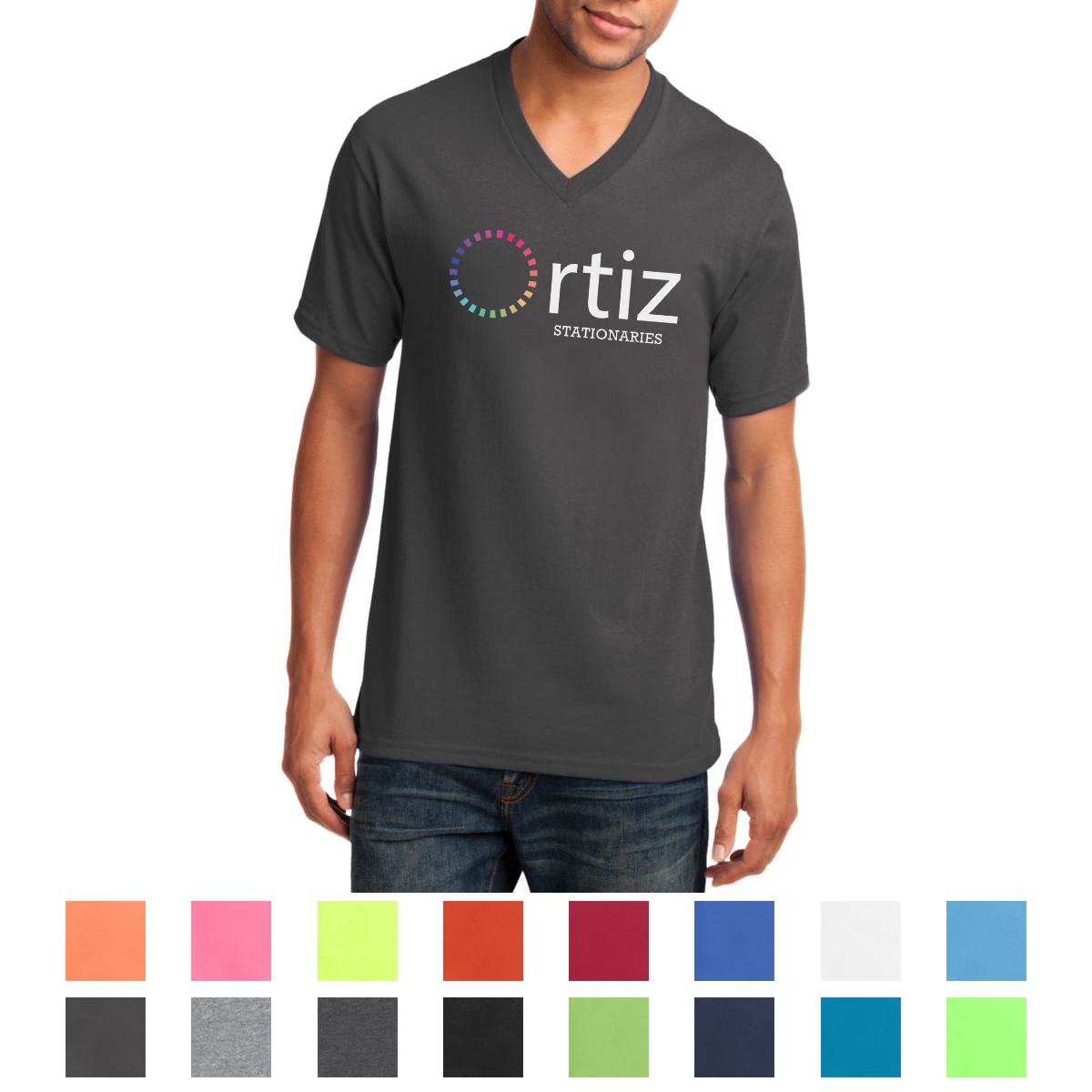e3f2e1447958 PC54V Port & Company® Core Cotton V-Neck Tee - Hit Promotional Products