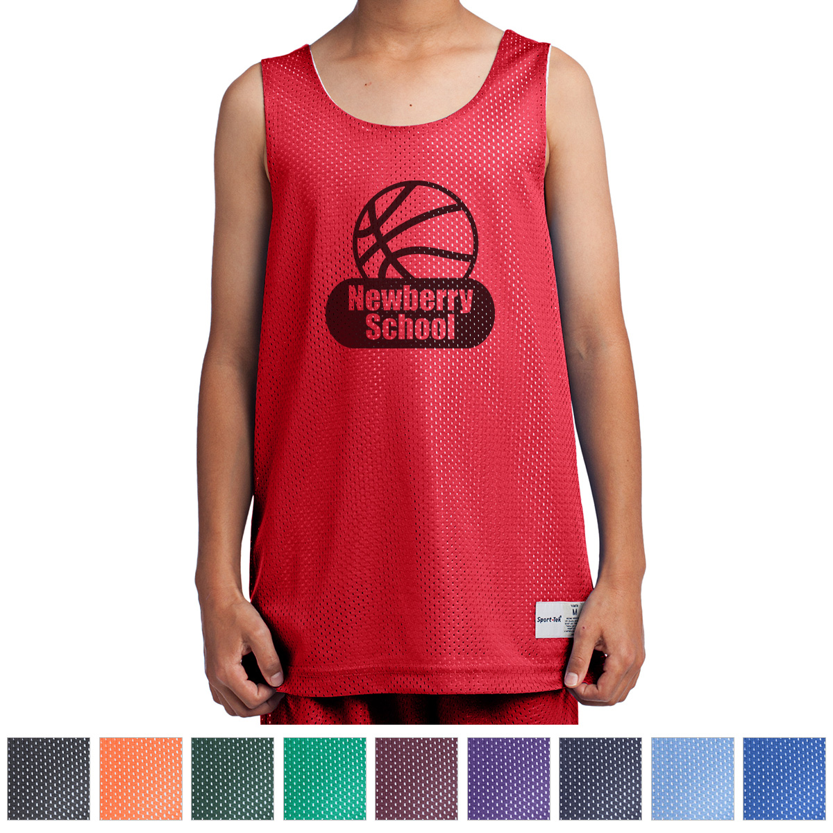 0c88ae6a1a606 YST500 Sport-Tek® Youth PosiCharge® Classic Mesh Reversible Tank ...